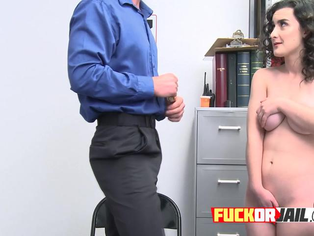 Lovely hot girl begs for not going to jail after stealing from the pervert guard that fucks her
