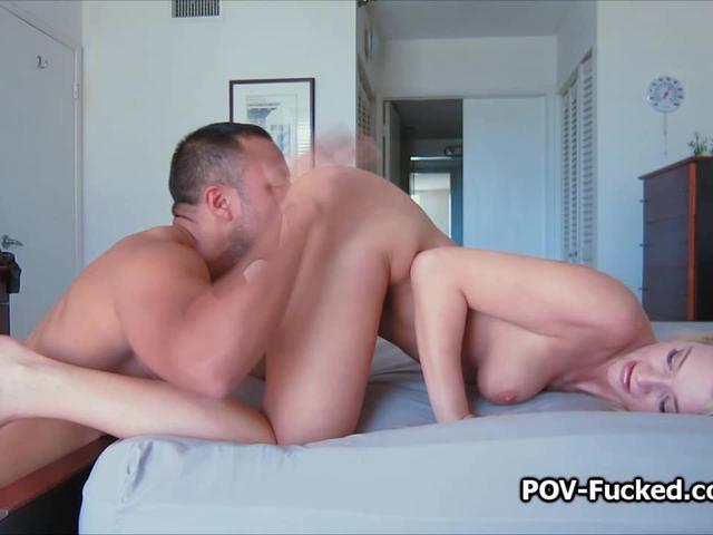 Fantastic busty Addison POV fucked on tape