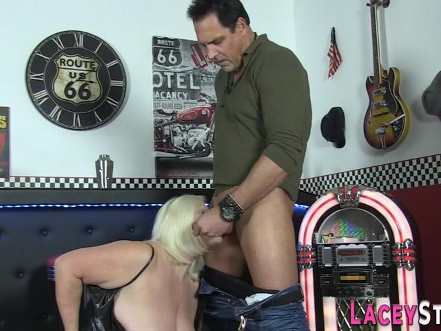 Horny granny loves a big cock in her pussy