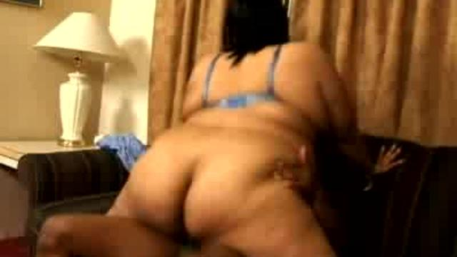 Big Ass Black BBW Jumps on a Cock