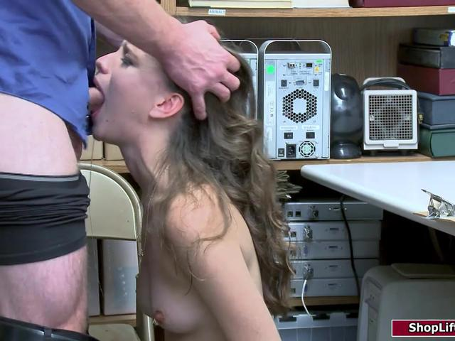 Blonde latina babe facefucked by officer