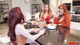 Aria Carson shares her boyfriend to her stepmoms Summer Hart and Lauren Phillips