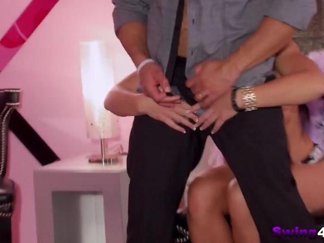 Slutty babes enjoy lap dancing in reality show