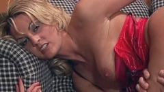 Enjoy one lusty blonde nympho tongues that thick cock. She ...