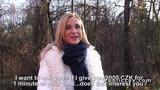 Czech blonde banged outdoor pov