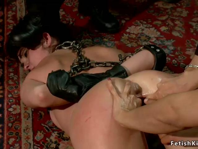 Hot chained anal slut public disgraced