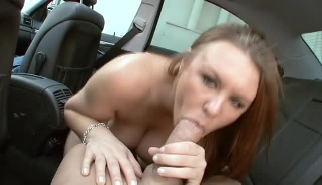 Dirty MILF Blows Boner In Car