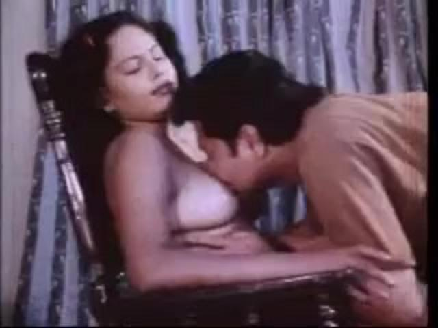Vintage Stacked Indian Amateur Rides Hard Man