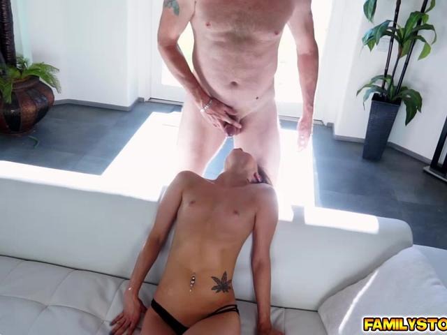 Step dad eats and fucks Alaina Dawsons pussy