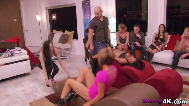 Swingers getting pleased in sexy reality show
