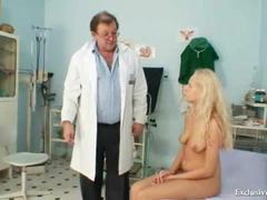 Pierced European Has Vag Exam