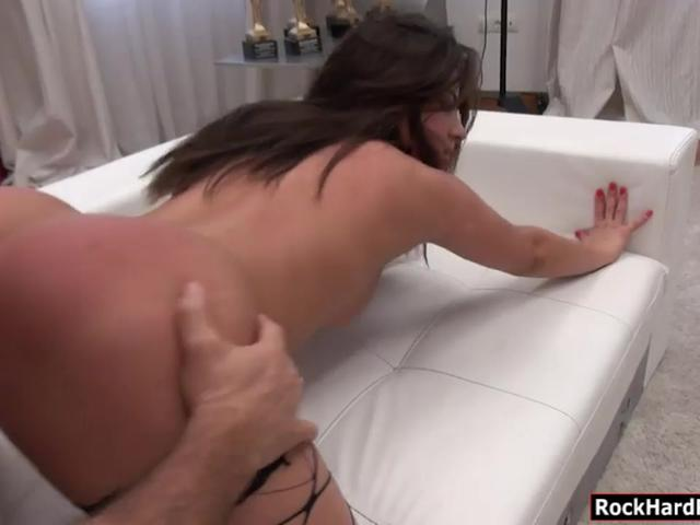 Sexy woman Anastasia B anal rammed deep by huge schlong
