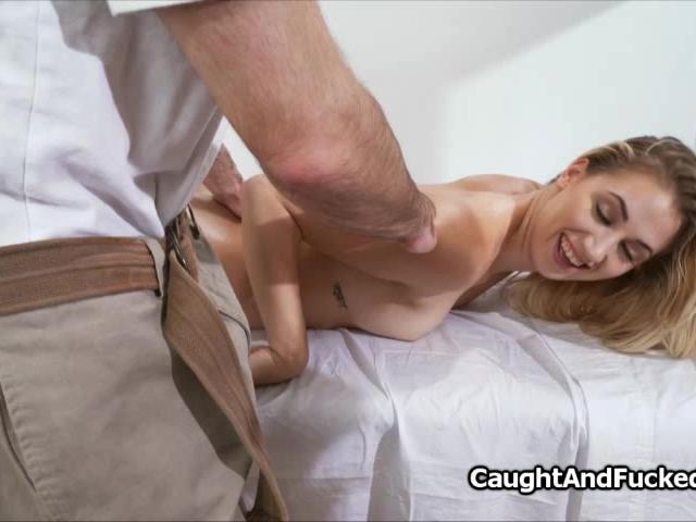Fucking hot blonde during massage