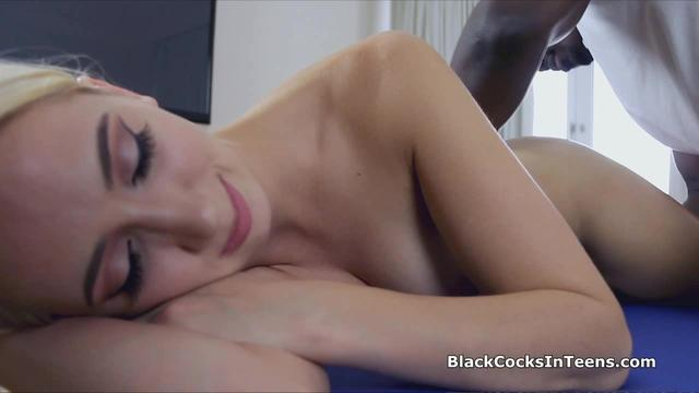 Big black cocked masseur bangs hot blonde