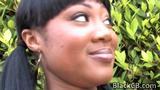 Black Babe Evanni Solei Enjoys Blowing White Dongs
