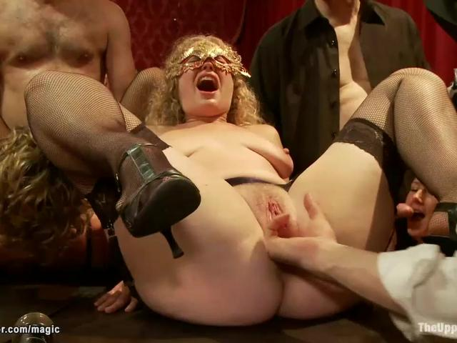 Slaves submitting at bdsm party