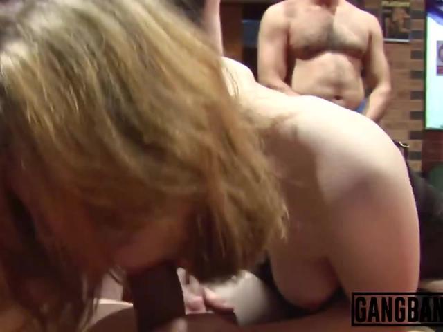 Dirty sluts enjoy getting gang banged by big dongs