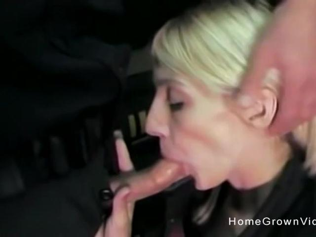 Blonde sucks and fucks her way out of being arrested