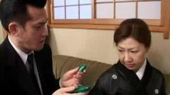 Spy this mature Asian couple received a black package. A ...