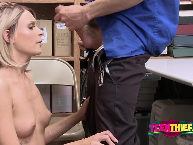 Porn Star EMMA HIX gets caught stealing and fucked by INVESTIGATOR