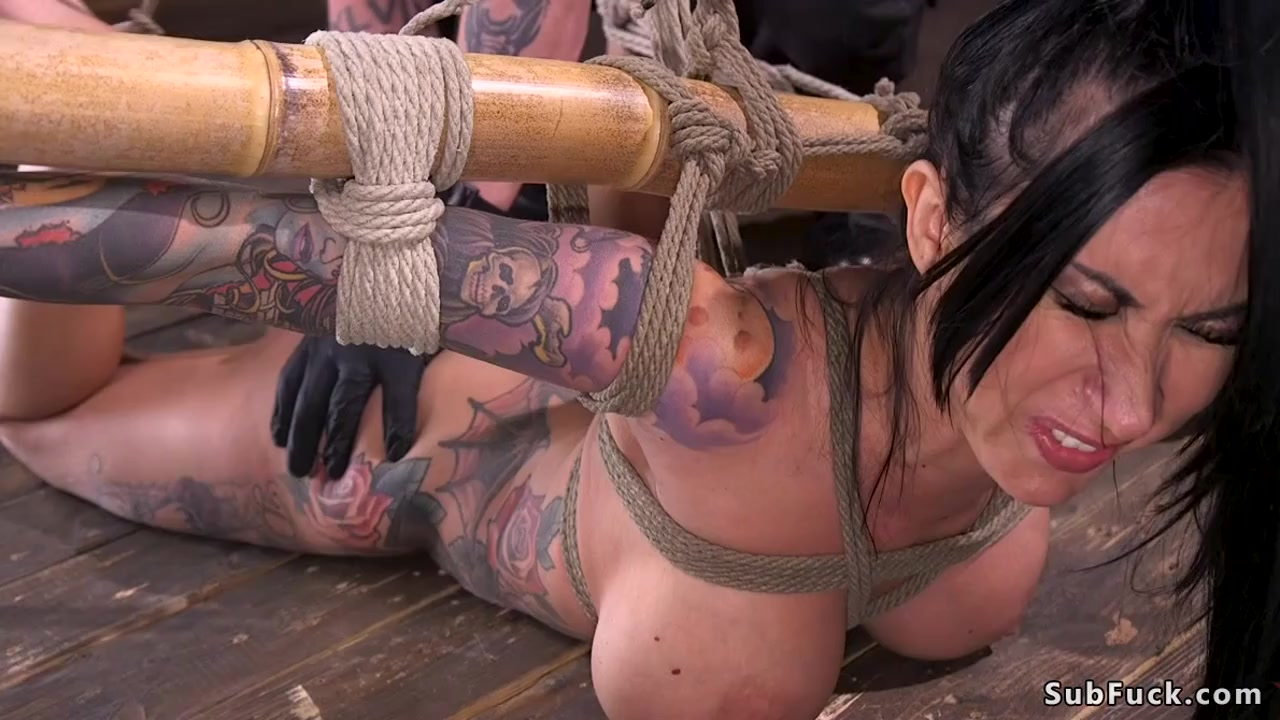 Huge boobs alt slave gagged and fucked