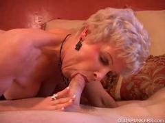 Horny Older Gal Swallows Shaft