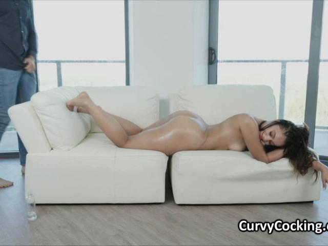 Sadie shows amazing round ass and gets fucked