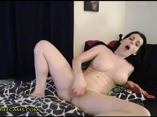 Horny Busty Dark Haired Babe Blowjob And Pussy Fuck