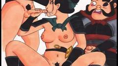 Famous cartoons group sex orgies