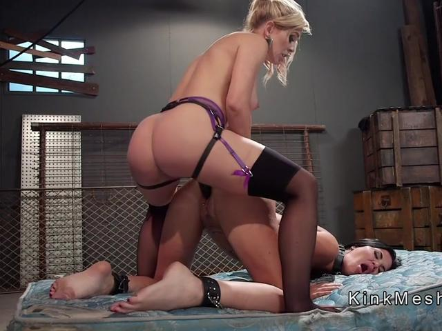 Huge tits and ass slut spanked and fucked
