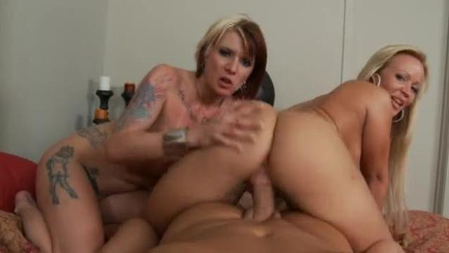 Tough Lesbos Play With A Stud