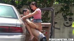 Naughty Lovers Fucking At Car Park