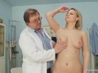 Pretty Blonde Undergoes Bizarre Vag Check-Up